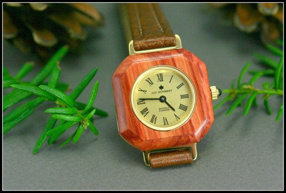 Square women's watches gold Wood watch Wooden by HUMBERTcreations