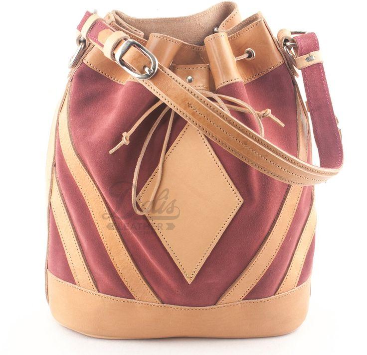 Δερμάτινη Γυναικεία Τσάντα Κούρος, Καστόρι Ροζ - Δέρμα Φυσικό, Model 527 #handbags #leatherhandbags #leatherbag #bag #handmadebag #womenbags #suedebags #suedehandbags #pinkbags #pinkhandbags