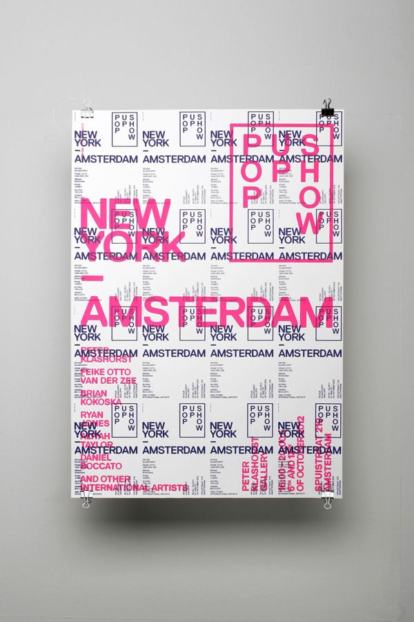 New York / Amsterdam — Pop Up Show by OK200 , via Behance