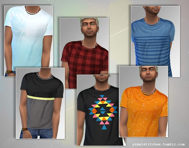 Sims 4 CC's - The Best: Shirts for Men by Sim Stitches ...
