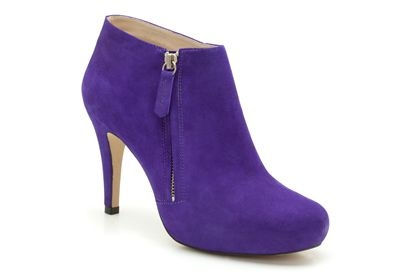 Womens Smart Boots - La Catherine in Violet Suede from Clarks shoes
