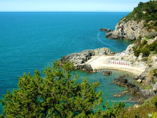 Talamone beach Bagno delle Donne in Maremma Tuscany