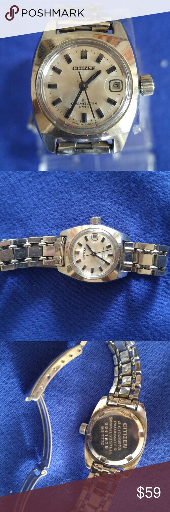 Ladies Citizen watch Very nice ladies Citizen watch Pink Edition date stainless steel has been gone through service to just add oil new battery needs nothing done to it like new Citizen Accessories Watches