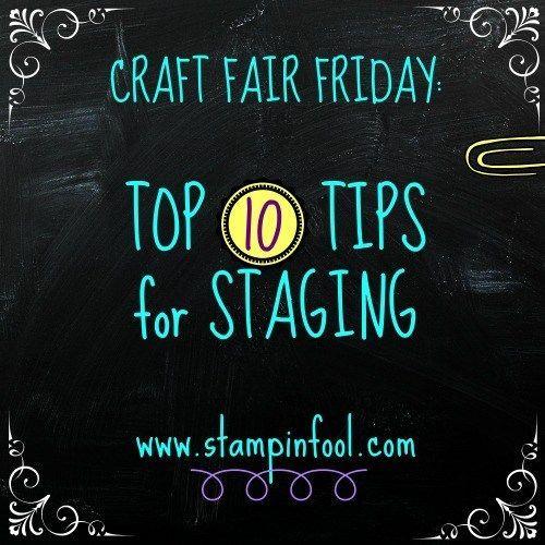 Top Craft Fair tips, tricks and tutorials   Stampin Fool