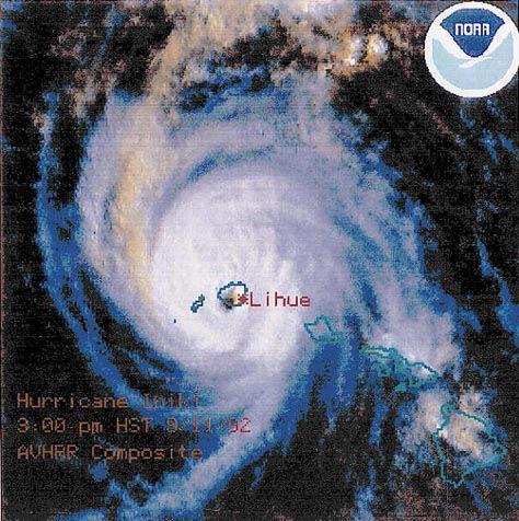 HURRICANE INIKI IN THE HAWAIIAN ISLANDS - September 11, 1992, by Dr. George Pararas-Carayannis