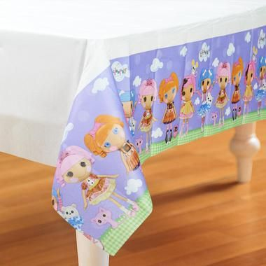 """This Lalaloopsy Paper Tablecover will protect your table while keeping it clean! Includes 1 paper tablecover that measures 54""""""""H x 96""""""""W.Includes (1) Lalaloopsy Paper Tablecover. Measures 54"""""""" high x"""