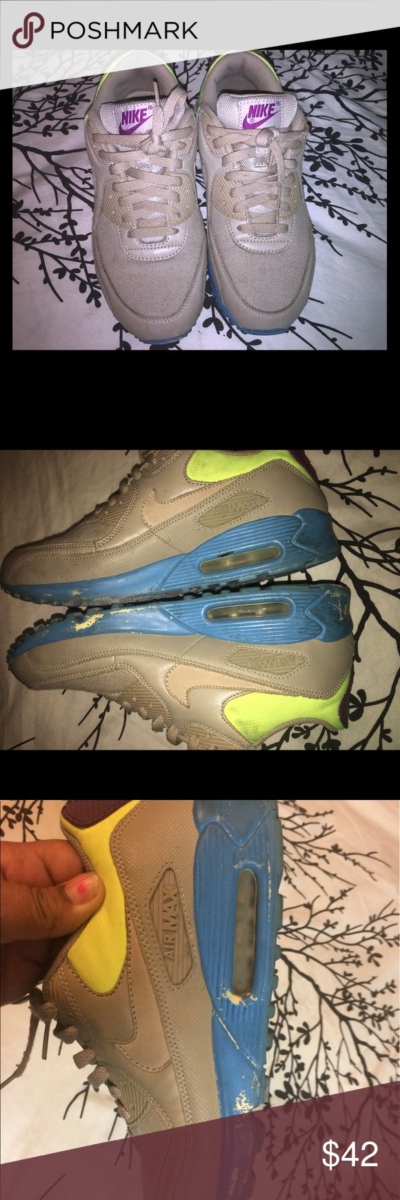 Men's size 8.5 women's size 10 Airmax I loved this sneaker! Just outgrew it.  Very colorful. Shows sign of wear see all pictures please ask any questions before buying. Treads are in good shape. Nike Shoes Sneakers