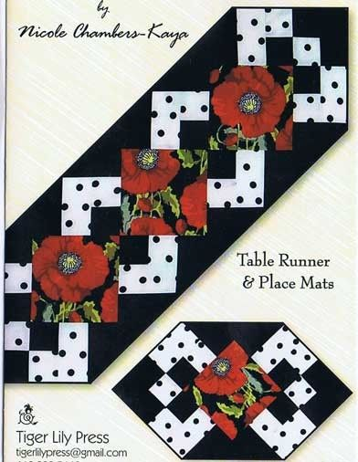Simply A Pleasure Table Runner and Place Mat Pattern by Nicole Chambers at Creative Quilt Kits