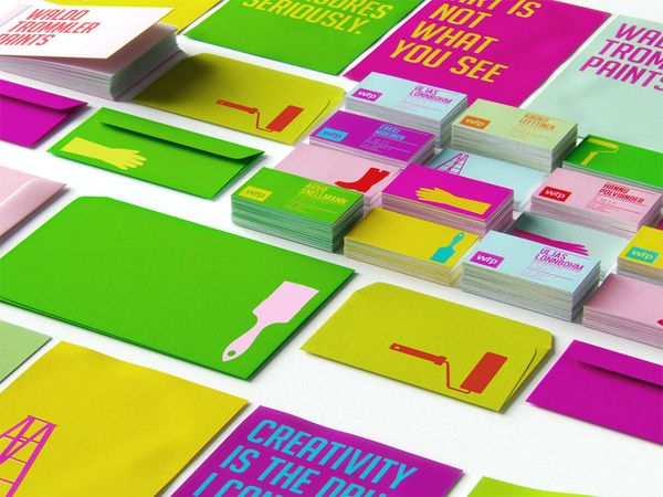 The branding for Waldo Trommler Paints by Reynolds and Reyner // yes! *~* love the paler tones with the bright brights.