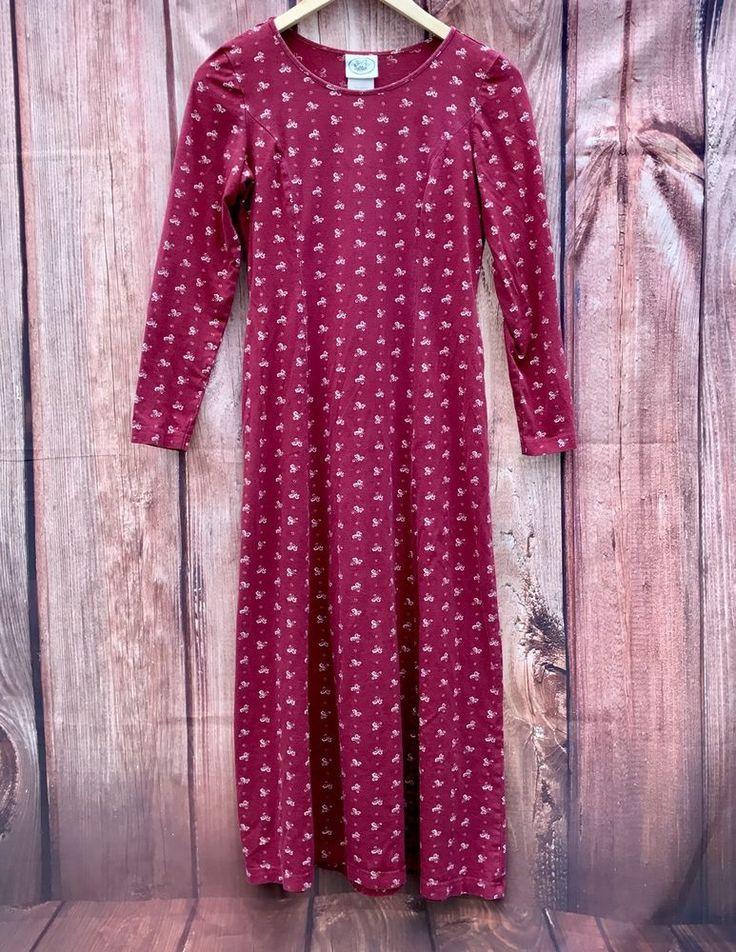 Vintage 1990's Laura Ashley 100% cotton Woman's full length Dress pattern maxi