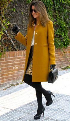 Zara Coat, Chanel Bag, Zara Skirt, Zara Blouse, Pilar Burgos Shoes, Uterqüe Gloves, Suite 210 Necklace