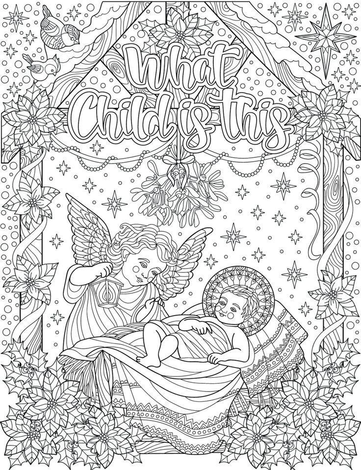 254 best Christmas + Easter Coloring Pages for Adults ...
