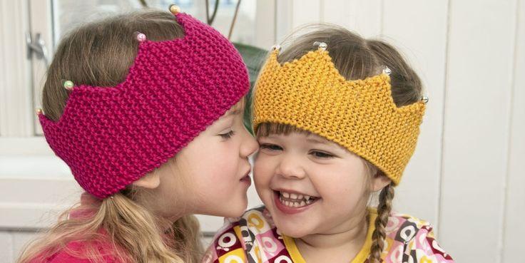 Princess head band - pattern in Norwegian