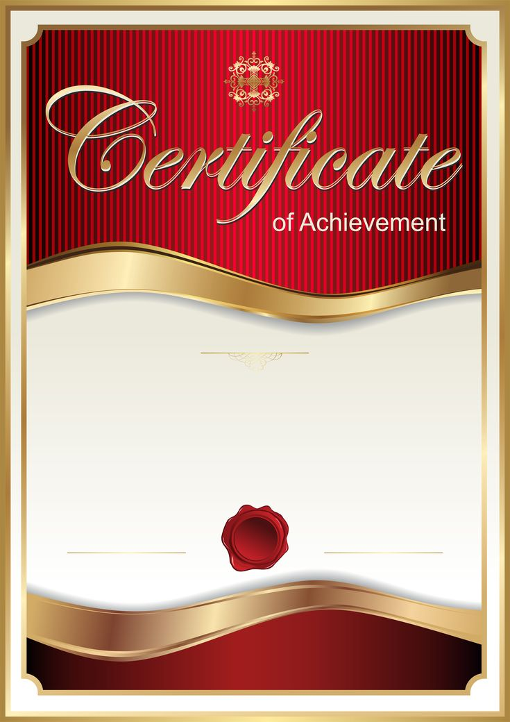 Red Certificate Template PNG Clip Art Image