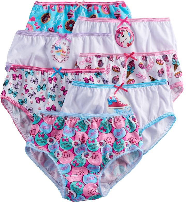JoJo Siwa Girls 4-8 JoJo Siwa 7-pk. Briefs. #underpants #briefs #jojo #jojosiwa #jo-jo #nickelodeon #girls #girlsfashion