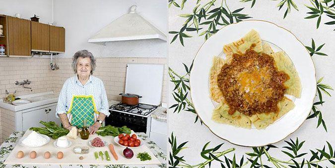 Φωτο-ταξίδι γεύσεων σε όλο τον κόσμο με σεφ... γιαγιάδες!  Ιταλία, Ραβιόλι με ρικότα και σέσκουλα με σάλτσα κιμά
