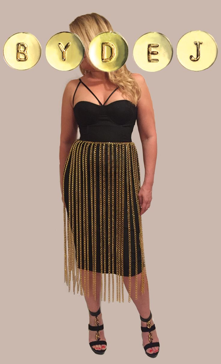 The Thesos Chain Skirt is the ULTIMATE unique statement piece! This skirt features 10mm wide chain on every other waist link.   Wear it with anything, over a bikini or body suit, a skirt, dress or pants.