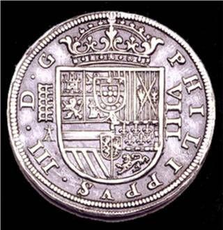 Escudo de Felipe III El Camino Español es un buen ejemplo. Desde 1567, el primero, hasta 1634 el último de ellos (casi 70 años) repartió oro y plata por todas las poblaciones por las que pasaba para que dieran acomodo y alimentos a miles de soldados de los Tercios.