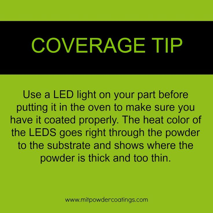 Powder Coating Coverage Tip using LED light  #MITPowder www.MITPOWDERCOATINGS.com