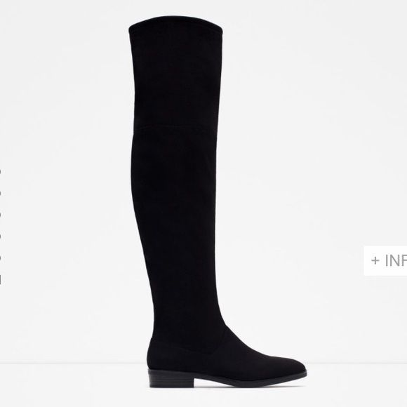 ZARA boots Black over the knee boots by ZARA ✨ brand new in box. $90 thru ️️ plus posh shipping Zara Shoes Over the Knee Boots