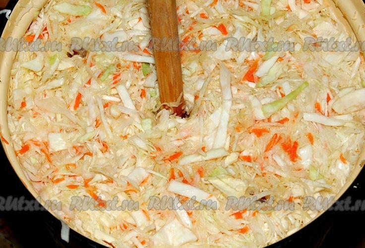 Квашеная капуста на зиму - рецепт с фото