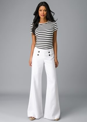 Lavish Linen Sailor Pant - one of my huge motivations to lose weight is to be able to wear pants like these without looking like a goiter belly.  I may have to re-evaluate though... I would probably instantly start my period the moment I put these on