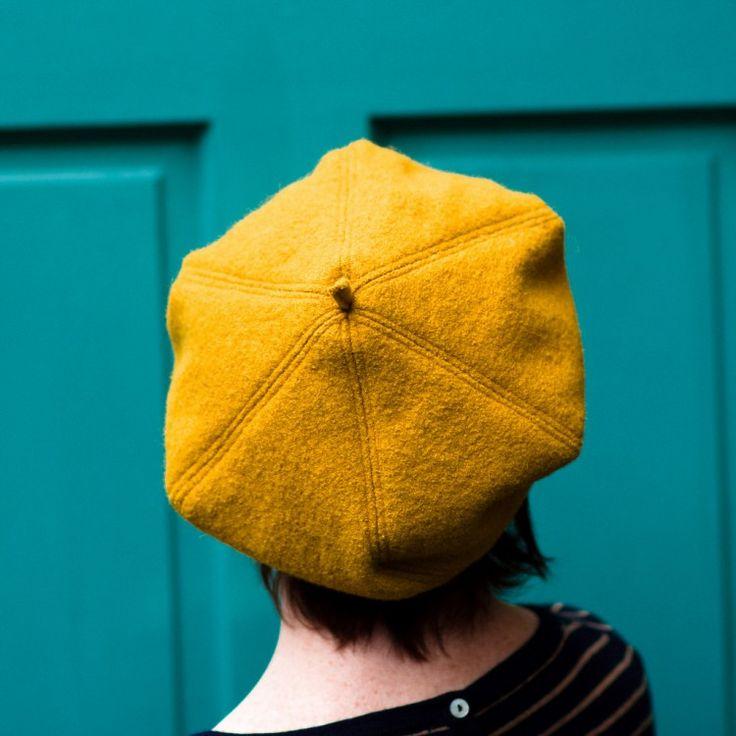 Mustard Beret, Vogue 5641 #vintagepledge2015
