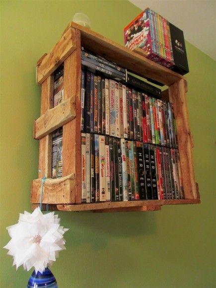 Salvage DVD Shelf DIY on Leave Me to My Projects