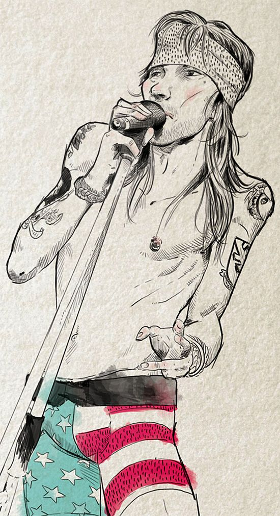 Axel Rose. Illustrations by Cláuder Marros