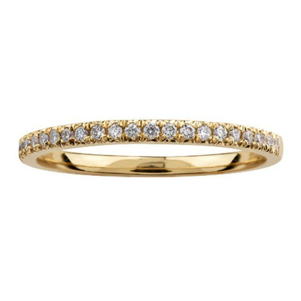 Buy Yellow Gold Pavee Diamond Band online In Canada
