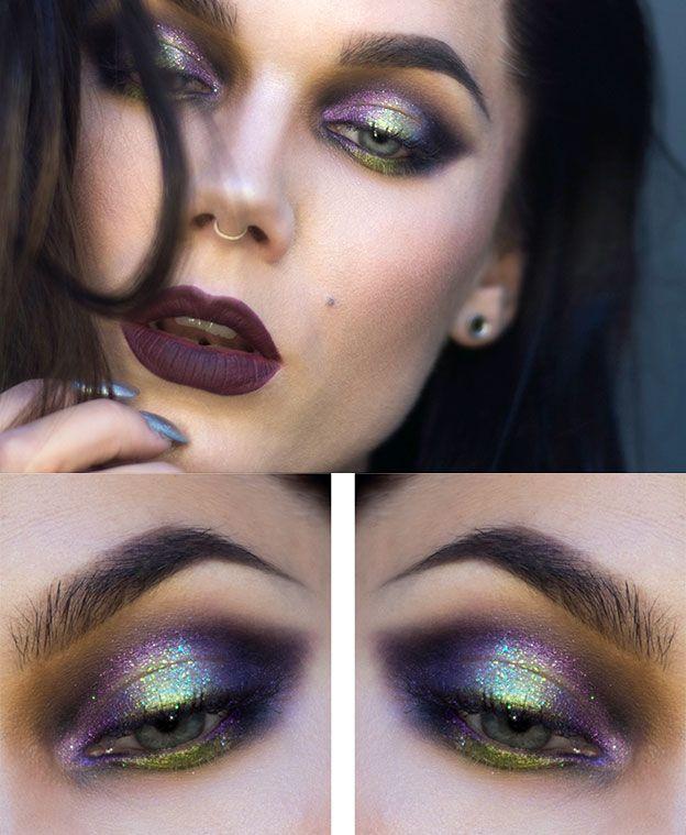 Праздничный макияж для серых глаз фото