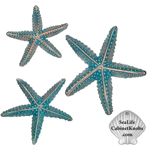 Wonderful Starfish Cabinet Knobs. Cast In Fine Pewter. Finished In Brushed Nickel,  Chrome Or
