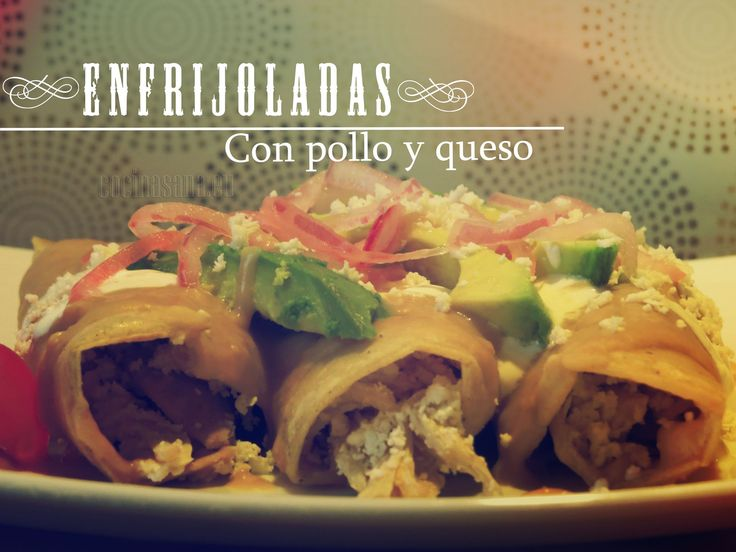 Enfrijoladas con Queso y Pollo... Receta y Vídeo paso a paso, autentica comida mexicana, subido por Xochipitzahuatl Miztli