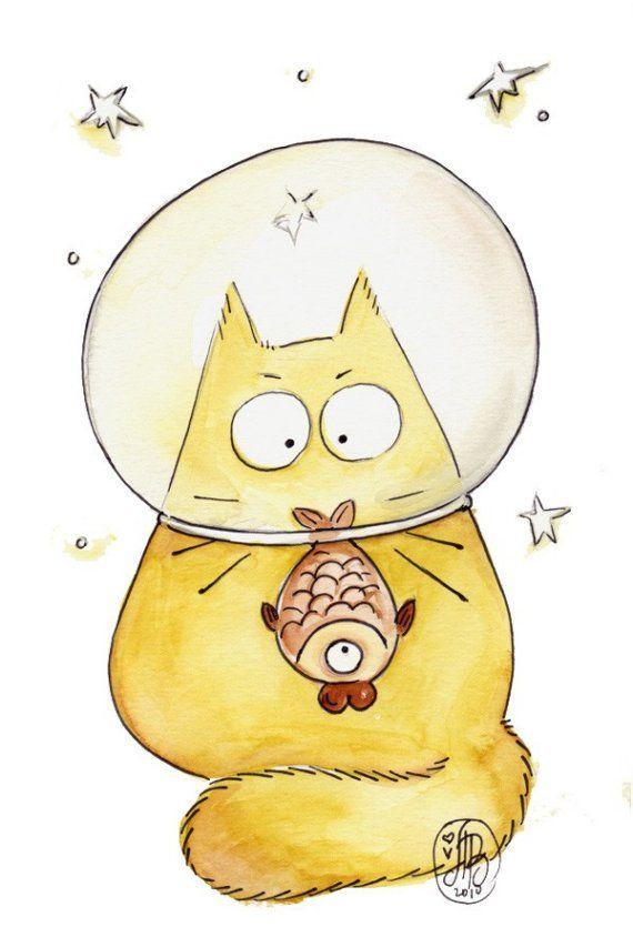 Легкие и смешные рисунки котиков, годовщина знакомства