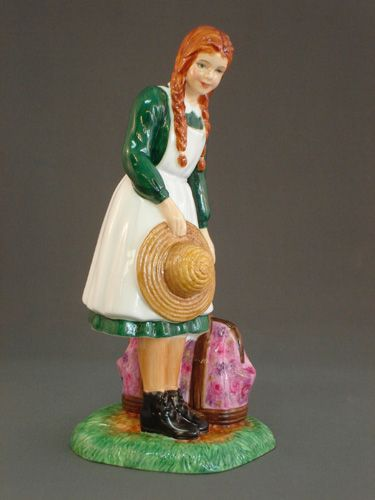 Anne Arrives at Green Gables  Royal Doulton Figurine  HN5225 Designer: N. Pedley  Size: 7 inches, 17.75 cm  Limited Edition of 800 pieces