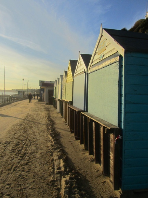 Beach huts. Southbourne beach. Bournemouth.