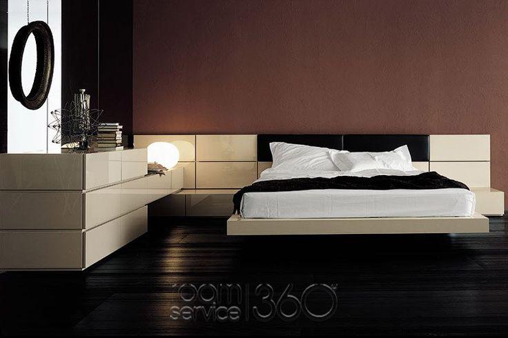 People Designer Panel Platform Bed v.4 by Pianca