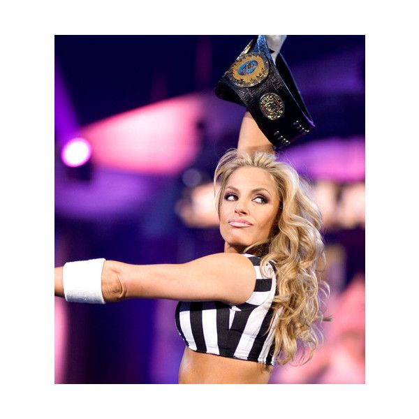Divas As Referees Trish Stratus Trish Stratus ❤ liked on Polyvore featuring home and home decor