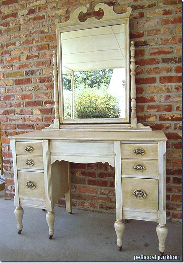Good Morning, Today is Dresser day! White paint antiqued for an aged look I selected 10 drastic dresser makeovers done by yours truly to share with you tod