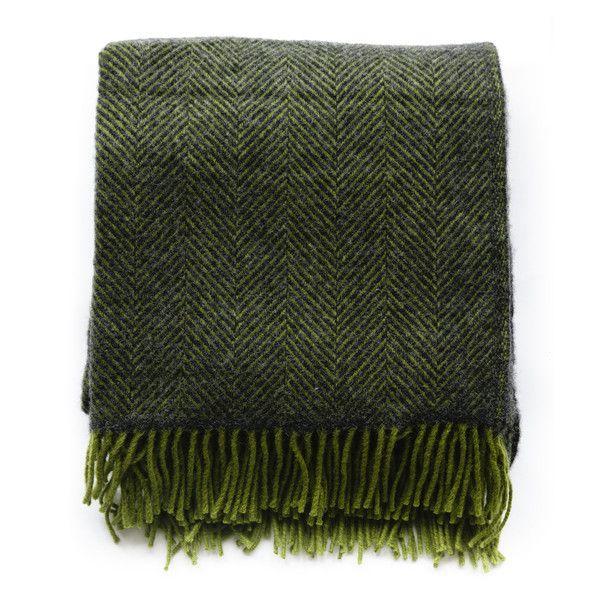 New - British Made Herringbone Blanket Forest - The Future Kept