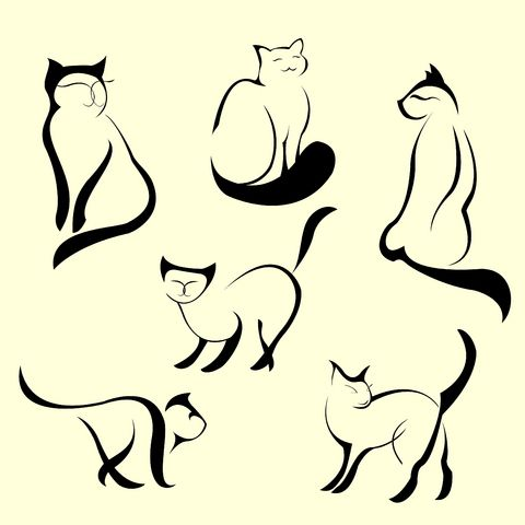 Cute cat tattoos.