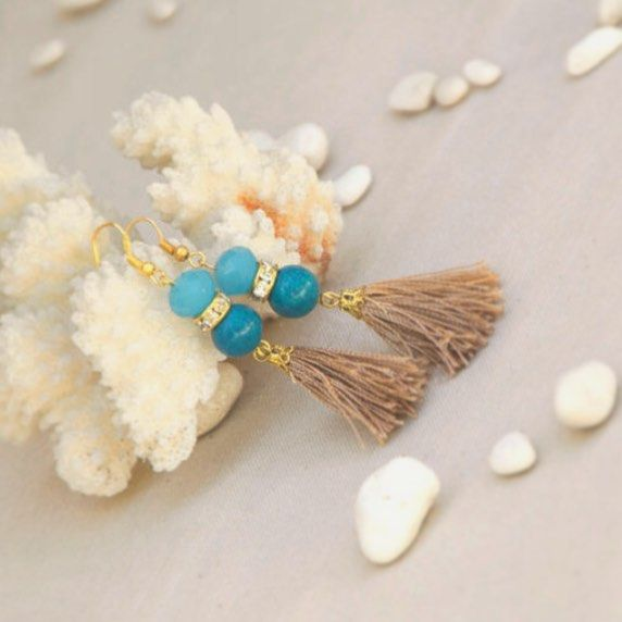 Summer bling! Beautiful new addition to our summer collection! Feel the summer!☀️🌊😊 Ocean blue/sand tones/golden sun details✨ nicely combined in this set of earrings💕 #earrings #summer #summer2015 #summerstyle #tassel #tasselearrings #dangleearrings #blue #summerjewelry #jewelry #fashion #fashionblog #etsy #etsyshop #etsyseller #madeingreece #madewithlove #handmade #turquoise #seaandsun #oceanblue #topology #topologyhandmade  #athensvoice #lifo #inspo #instalike #instagood #bling