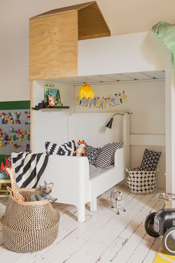 Ikea hacks - bunk bed for kids + storage solutions