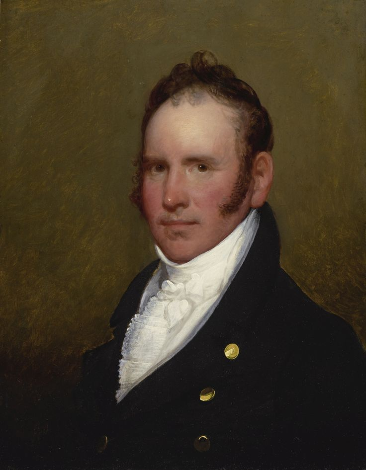 Gilbert Stuart (1755 - 1828) - JONATHAN AMORY - oil on panel , 26 1/4 by 20 3/8 in.,  painted circa 1810