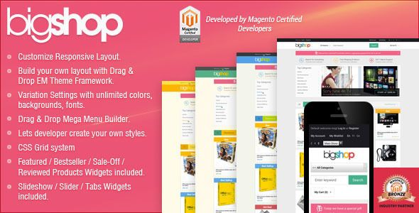 Shopping Responsive Magento Theme - Gala BigShoptoday price drop and special promotion. Get The best buy