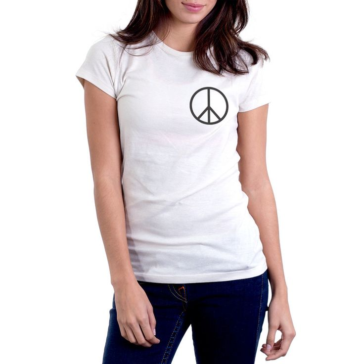 Women's Made in USA Peace Sign T-Shirt