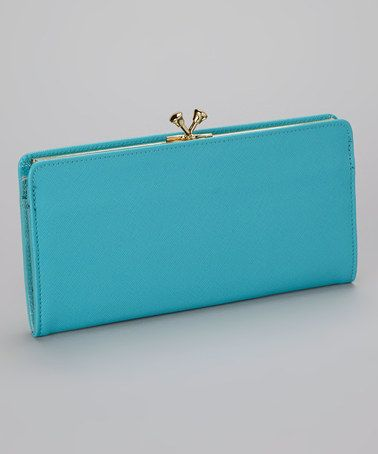 Take a look at this Turquoise Crown Wallet by Abas on #zulily today!  $50 !!