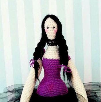 Halloween Tilda Doll, crochet handmade  (pattern Inge Olde Engbering)