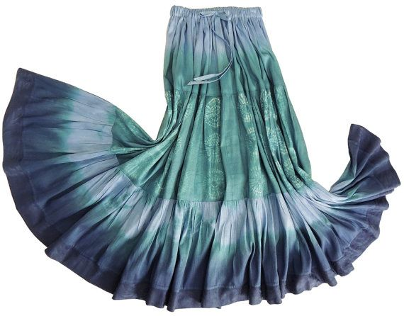 Dupioni Silk Shibori Skirt Handmade and Dyed by 1000 by 1000Colors