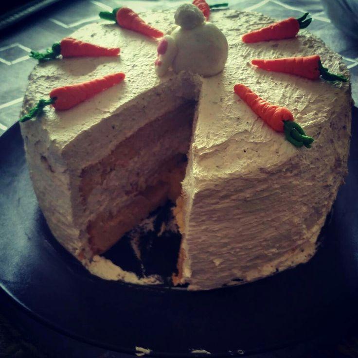 Easter cake #easter #cake #bunny #carrots